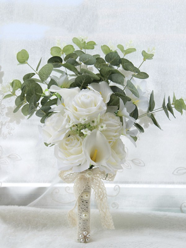 Sweet Free-Form Artificial Flower Bridal Bouquets