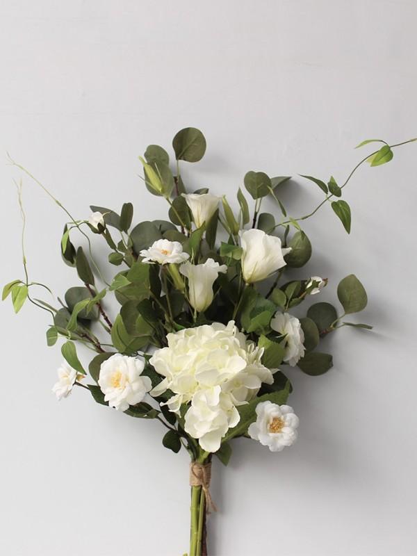 Sweet Free-Form Silk Flower Bridal Bouquets