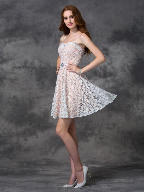 8140c0105531cb Share on Tumblr Tweet. Save. Share on google. Short/Mini A-Line/Princess  Sweetheart Sleeveless Lace Lace Dresses