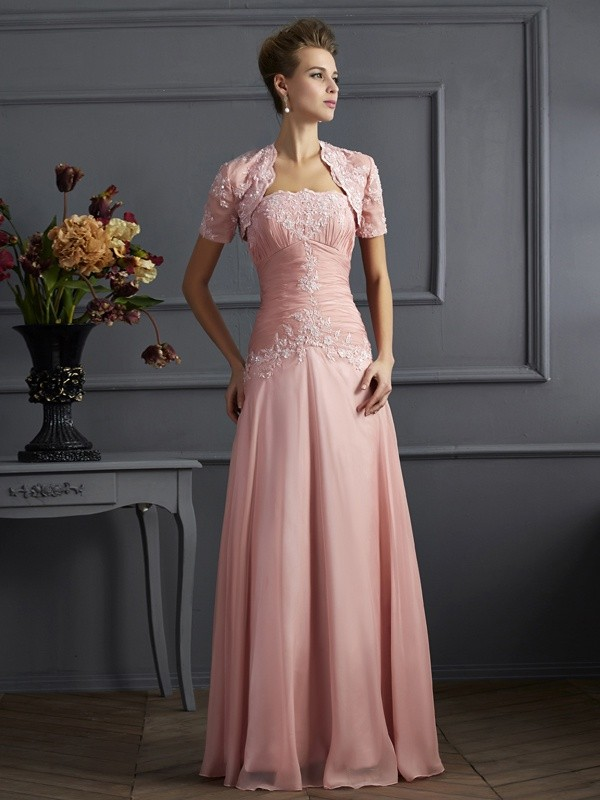 72bec03526a Floor-Length A-Line Princess Sweetheart Sleeveless Applique Chiffon Mother  of the Bride