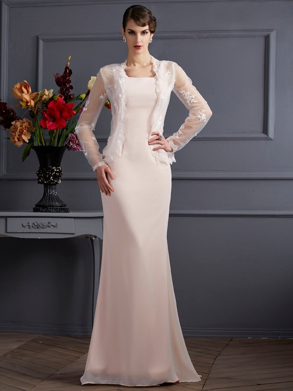 fd5478f6ba Floor-Length Sheath Column Square Sleeveless Other Chiffon Mother of the Bride  Dresses