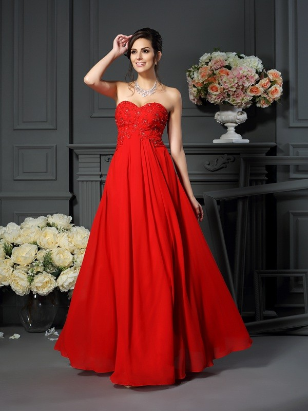 29ac5dd349c7 Floor-Length A-Line/Princess Sweetheart Sleeveless Beading Chiffon Mother  of the Bride