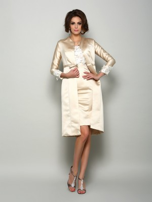 Stylish Satin Applique Special Occasion Long Sleeves Wrap