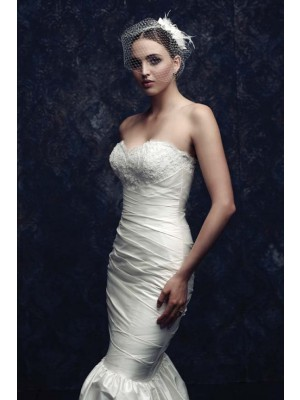 The Most Stylish Beautiful Net Feather Wedding Veils