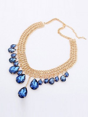 The Most Fashionable Occident Hyperbolic Metallic Mashup style New Water Drop Hot Sale Necklace