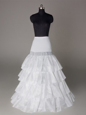 A-Line 4 Tier Floor Length Slip Nylon Style Wedding Petticoats