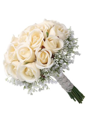 Elegant Round Artificial Flower Bridal Bouquets