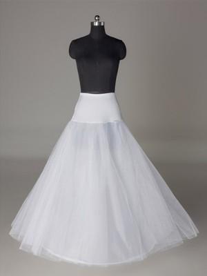 A-Line 2 Tier Floor Length Slip Tulle Netting Style Wedding Petticoats