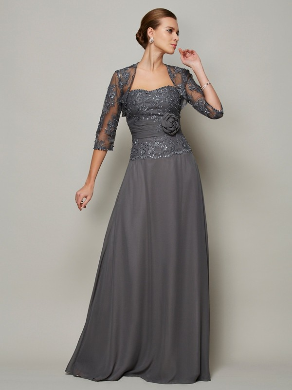 fe897a863b56 Floor-Length A-Line/Princess Sweetheart Sleeveless Applique Chiffon Mother  of the Bride