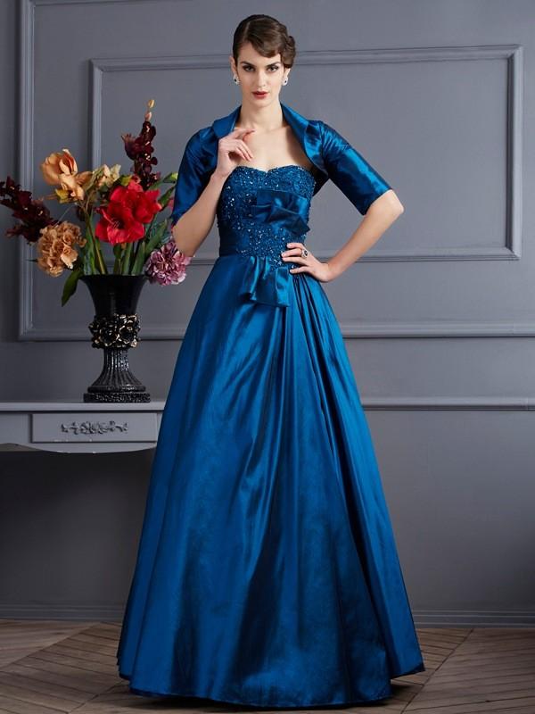 395dc06e00 Floor-Length A-Line Princess Sweetheart Sleeveless Applique Taffeta Mother  of the Bride