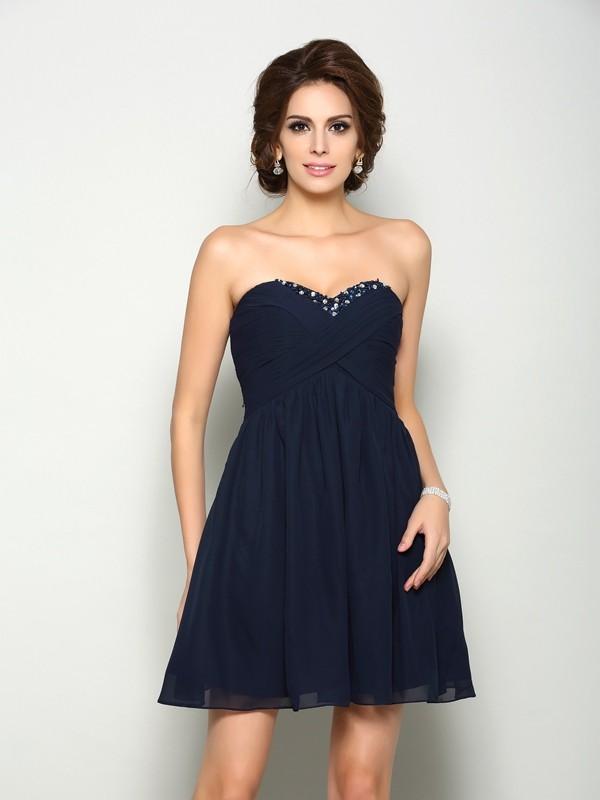 Dark Navy Semi Formal Dresses Miagal