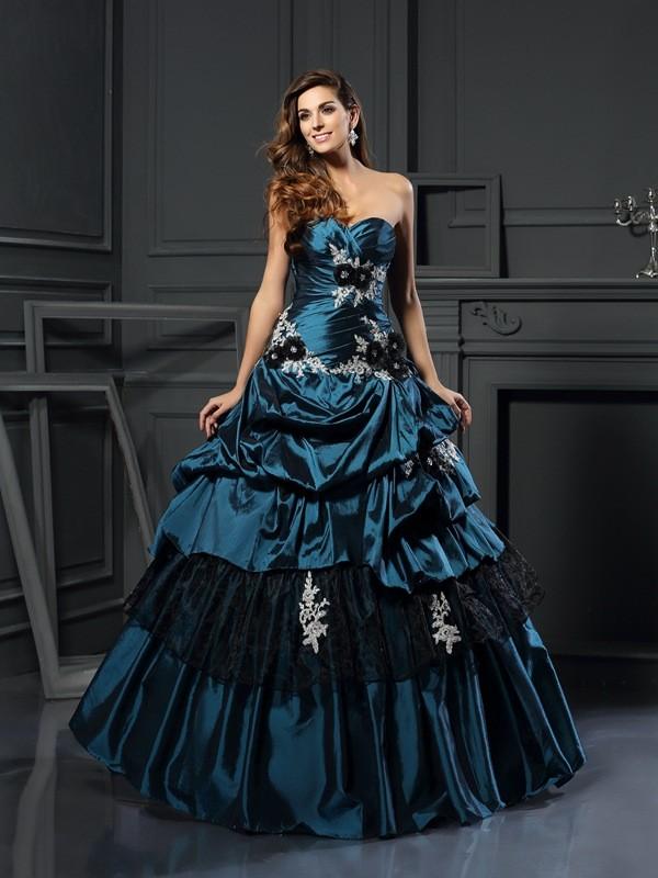 271ff63a1ac Floor-Length Ball Gown Sweetheart Sleeveless Beading Taffeta Dresses
