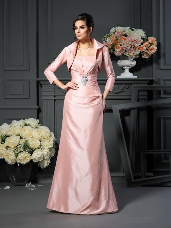9d0b0ab5153c3 Floor-Length A-Line/Princess Strapless Sleeveless Pleats Taffeta Mother of  the Bride