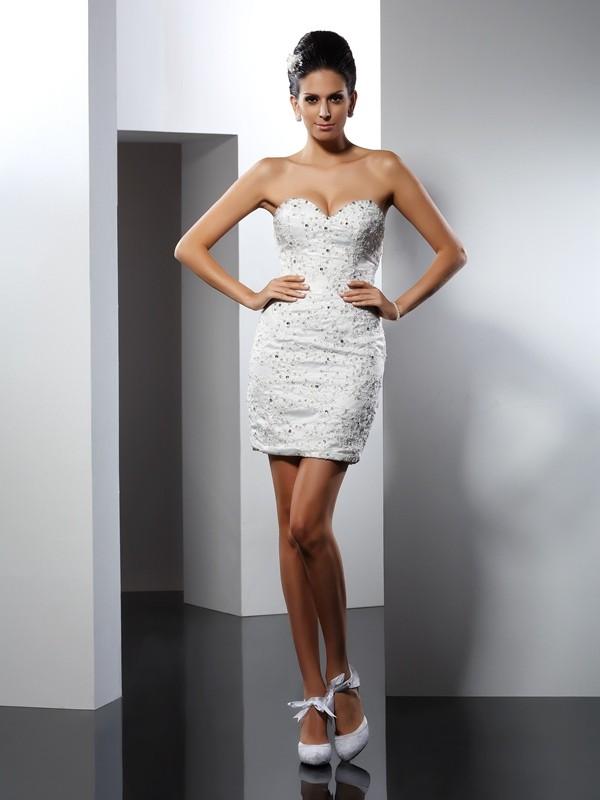 Chapel Train A-Line/Princess Sweetheart Sleeveless Applique Tulle Wedding Dresses
