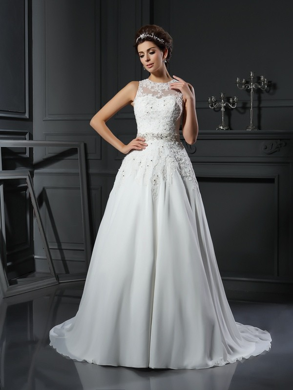 High Neck Vintage Wedding Dresses - Miagal