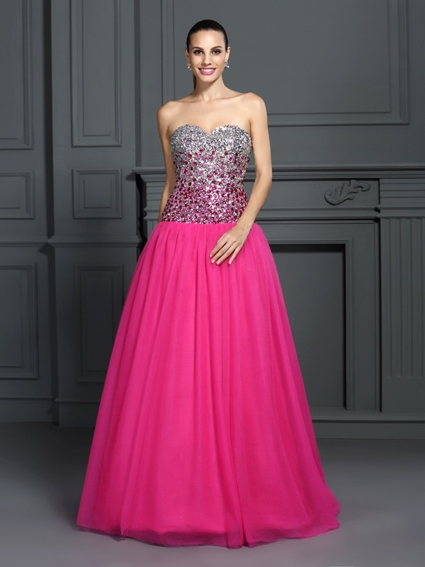 Floor-Length Ball Gown Sweetheart Sleeveless Other Organza Dresses