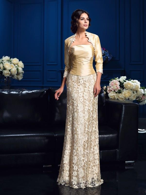 da40e229905 Floor-Length A-Line Princess Strapless Sleeveless Lace Mother of the Bride  Dresses