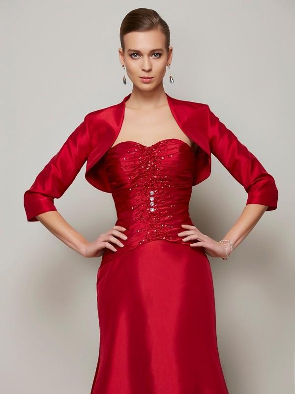 Fashion 3/4 Sleeves Special Occasion Taffeta Wrap