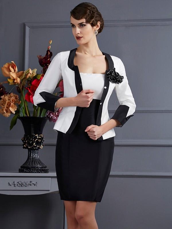 Stylish Taffeta Special Occasion 3/4 Sleeves Wrap