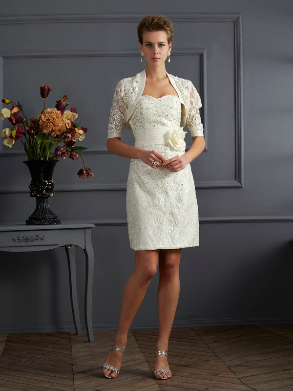 Stylish Lace Special Occasion Short Sleeves Wrap