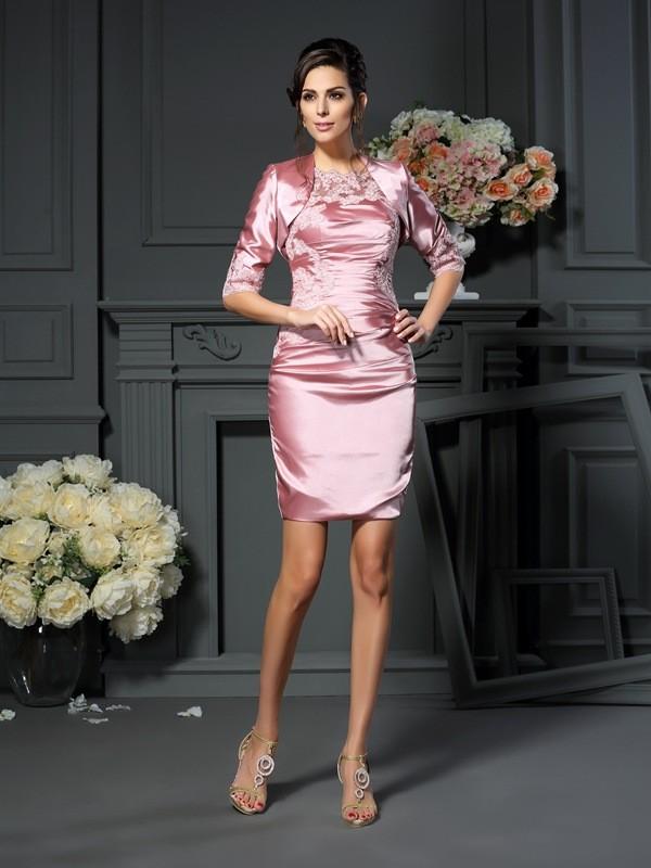 Fashion Elastic Satin 3/4 Sleeves Woven Applique Special Occasion Wrap