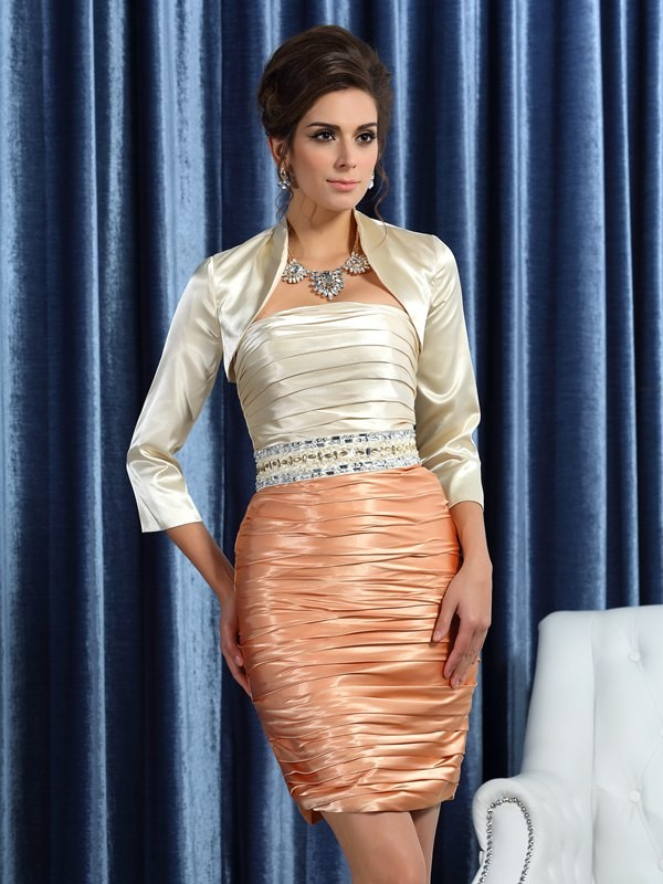 Fashion Silk Satin 3/4 Sleeves like Special Occasion Wrap