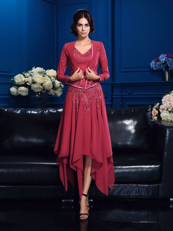 Fashion Chiffon Applique Special Occasion Long Sleeves Wrap