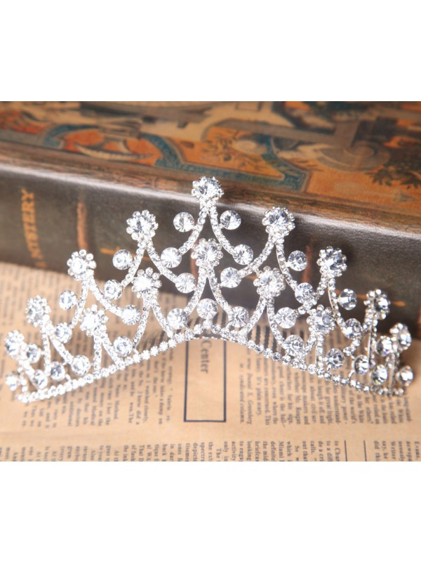 Bright Czech Rhinestones Wedding Headpieces
