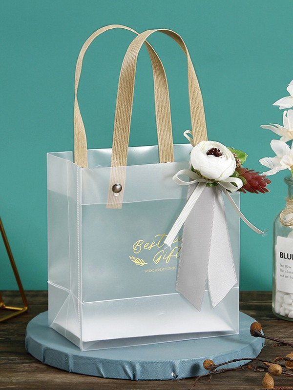 Charming PVC With Flower Gift Bags