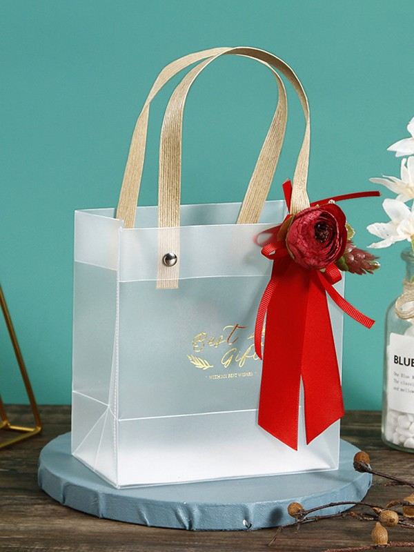 Delicate PVC With Flower Gift Bags
