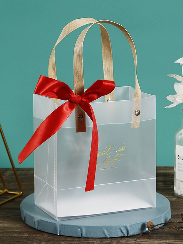 Unique PVC With Bowknot Gift Bags