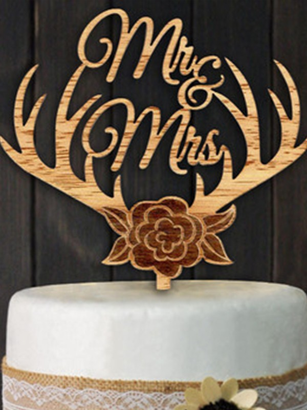 Gorgeous Wooden Cake Topper