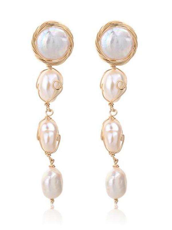 Beautiful Pearl Long Earrings For Ladies