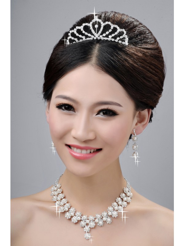 Gorgeous Wedding Headpieces Necklaces Earrings Set Hot Sale
