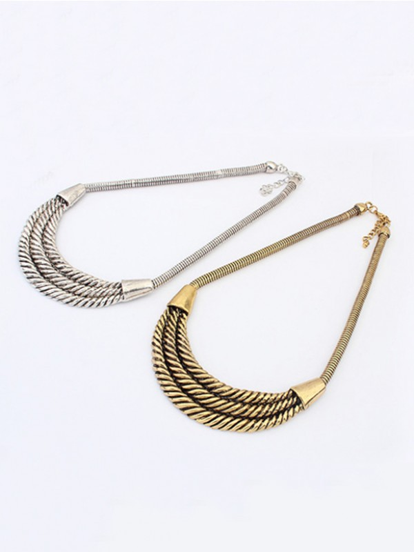 The Most Fashionable Occident Hyperbolic Personality Semi-arc alloy Hot Sale Necklace