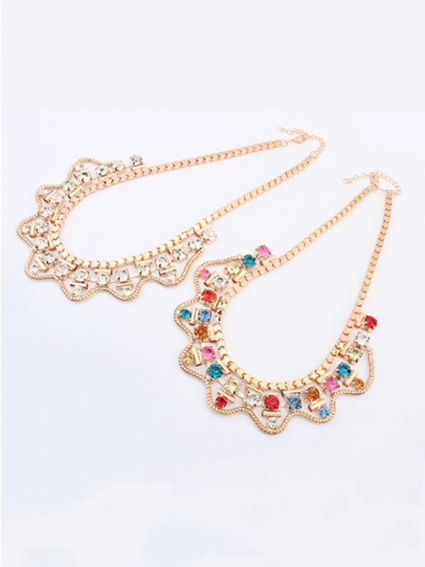 The Most Trendy Occident Major suit Exquisite Rhinestone Hot Sale Necklace