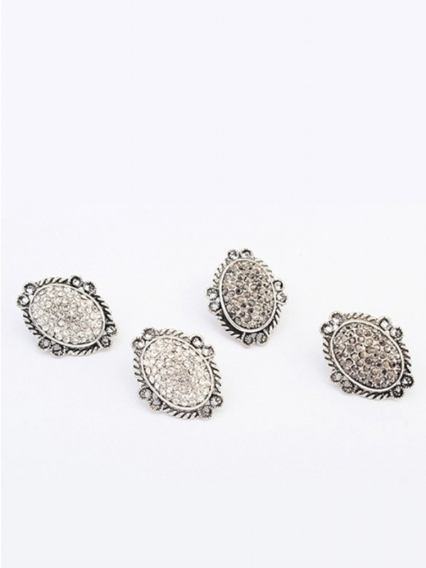 The Most Trendy Occident Exotic Retro Oval Stud Hot Sale Earrings