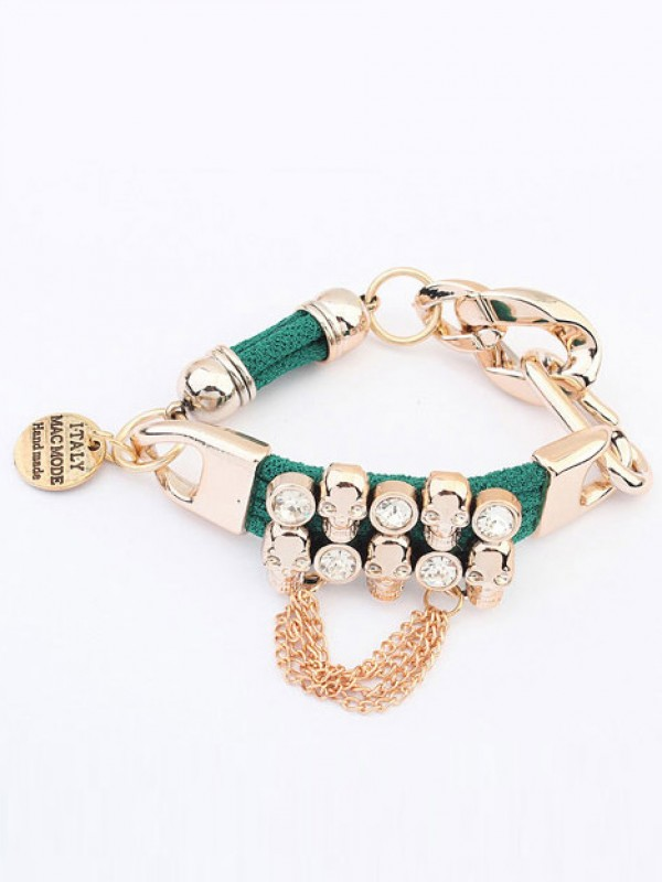 The Most Fashionable Occident Punk Hyperbolic Skull Hot Sale Bracelets