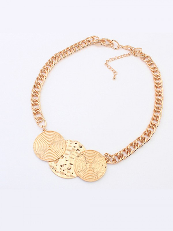 The Most Stylish Occident Punk Round Plate Hot Sale Necklace
