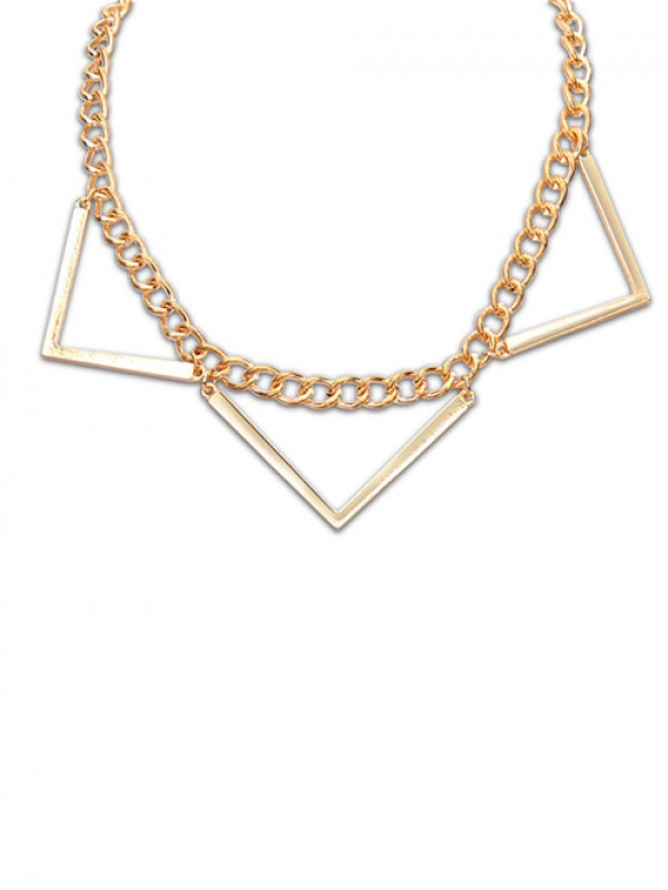 The Most Fashionable Occident Hyperbolic Punk Triangle Geometry Hot Sale Necklace