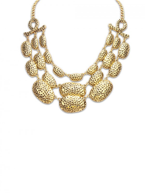 The Most Fashionable Occident New Metallic Multi-Layered Hot Sale Necklace