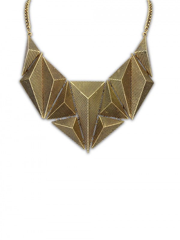 The Most Fashionable Occident Hyperbolic Metallic Dimensional Geometry Hot Sale Necklace