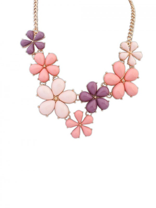 The Most Trendy Occident Flowers Sweet Hot Sale Necklace