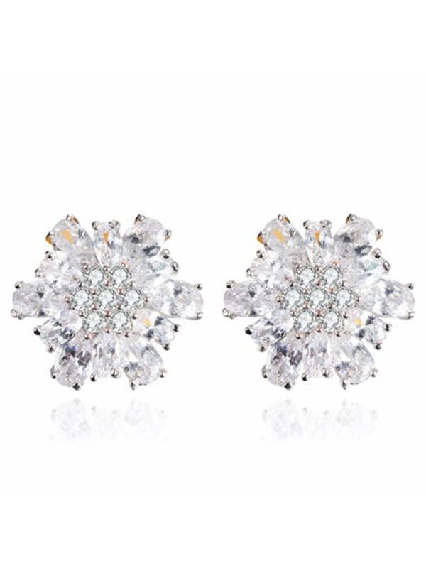 New Alloy With Zircon Women's Earrings