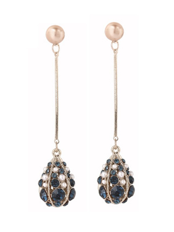 Unique S925 Silver With Pearl Water Drop Earrings