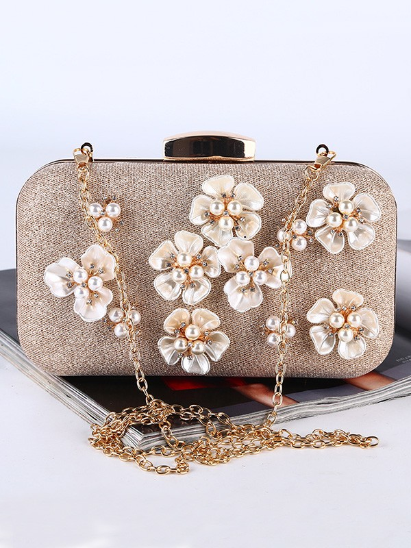 Pretty Pearl Evening/Party Handbags With Flowers