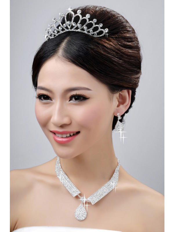 Gorgeous Nice Wedding Headpieces Necklaces Earrings Set