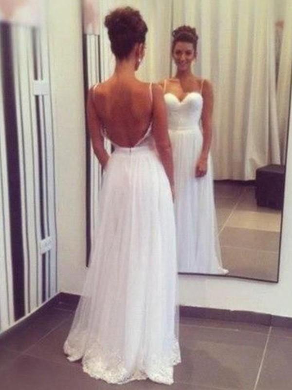 Floor-Length A-Line/Princess Sleeveless Sweetheart Tulle Wedding Dresses