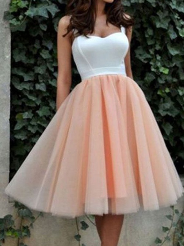 Short/Mini A-Line/Princess Sweetheart Sleeveless Tulle Dresses