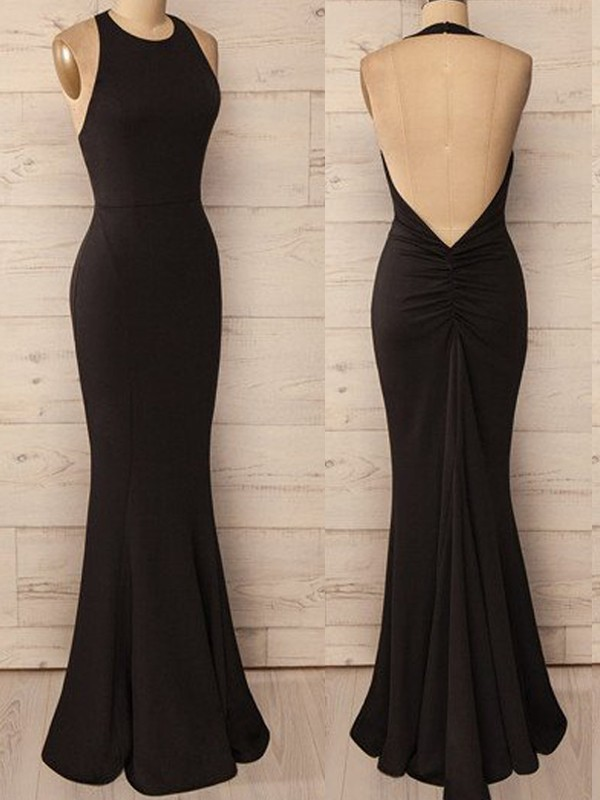 Floor-Length Trumpet/Mermaid Halter Sleeveless Spandex Dresses